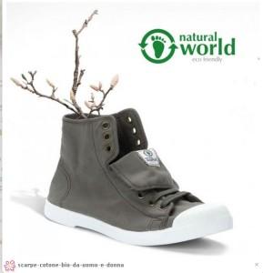 Un esempio di scarpe eco-bio disponibli in negozio