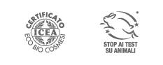 I cosmetici sono certificati ecobio da ICEA e sono cruelty free