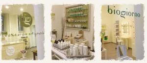L'interno di Biogiorno, dove potrete trovare i migliori cosmetici naturali