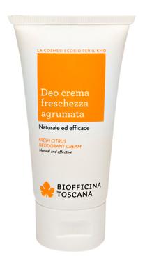 Un prodotto di Biofficina Toscana: il deodorante ecobio agrumato