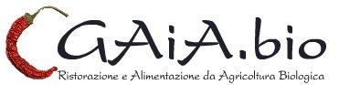 Il logo del ristorante e pizzeria biologici Gaia.bio
