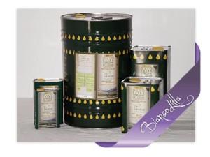 La varietà di olio Biancolilla, nei diversi formati