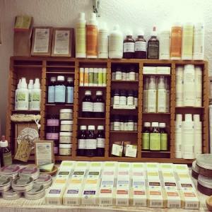 Alcuni prodotti del negozio di Trastevere