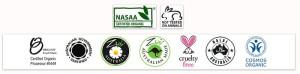 L'elenco delle certificazioni bio per i cosmetici della Zuii Organic