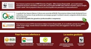 I riconoscimenti e le associazioni di Four Seasons nell'ambito del turismo sostenibile