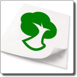 Il logo della certificazione FSC per la carta ecologica
