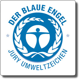 Il logo della certificazione Der Blaue Engel per la carta riciclata