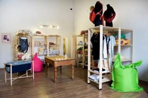 Lo showroom in cui è possibile vedere i prodotti di Merrymama