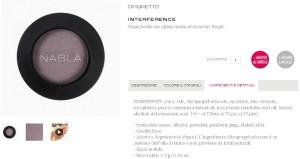 L'INCI dell'ombretto Interference della Nabla Cosmetics