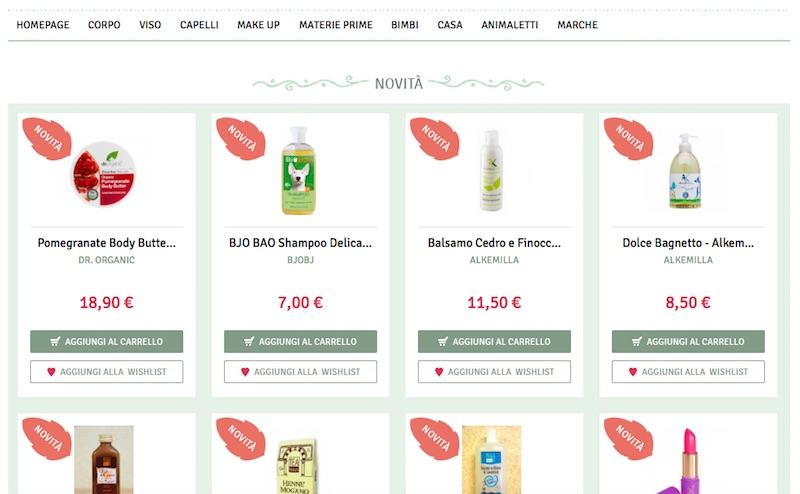 Il negozio online ha una grafica molto pulita ed una vasta selezione di prodotti